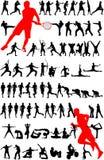 спорт силуэта Стоковое Изображение RF