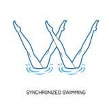Спорт Синхронизированное заплывание Стоковое Изображение RF