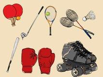 спорт силуэта иконы культуриста Стоковая Фотография RF