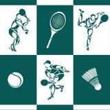 спорт силуэта иконы культуриста Стоковое Изображение