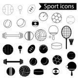 спорт 2 силуэтов игроков икон футбола шарика Стоковое Изображение