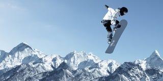 Спорт сноубординга стоковое изображение