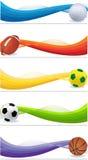 спорт установленный знаменами Стоковые Фотографии RF