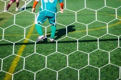 спорт футбола игроков персонажей из мультфильма Стоковое фото RF