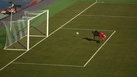 спорт футбола игроков персонажей из мультфильма Стоковое Изображение RF