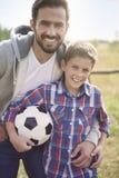 спорт футбола игроков персонажей из мультфильма Стоковые Фотографии RF