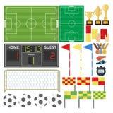 Спорт-Футбол-оборудование Иллюстрация штока