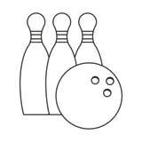 спорт штифта с полукруглой головкой боулинга утончает линию иллюстрация штока