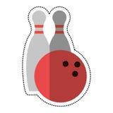спорт штифта с полукруглой головкой боулинга шаржа бесплатная иллюстрация