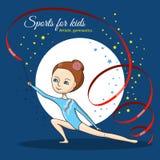 Спорт для детей художническая гимнастика Стоковые Фотографии RF