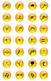 спорт 03 икон установленный Стоковые Изображения RF