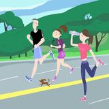 Sport exercises stock illustration