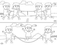 спорт 7 крася малышей Стоковое фото RF