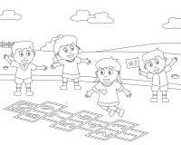 спорт 8 крася малышей Стоковое Изображение
