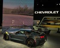 Спорт 2019 Chevy Корвета большой стоковые изображения rf