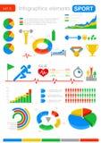 Спорт Infographics. Статистик и аналитик для b Стоковая Фотография