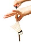 спорт shuttlecocks ракетки badminton близкий вверх Стоковое Изображение RF