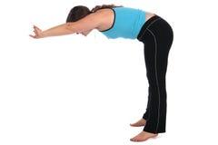 спорт sideview девушки брюнет загиба передний Стоковое Изображение RF