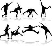 спорт silhouetes Стоковая Фотография RF