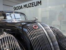 Спорт Skoda популярный - Монте-Карло - автомобиль ветерана Стоковые Изображения RF