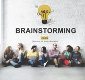 Способность метода мозгового штурма создавая творческую концепцию идей Стоковые Изображения