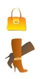 способ ботинка мешка иллюстрация штока