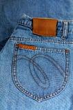 Карманн голубых джинсов. Стоковые Фото