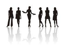 способ silhouettes женщина Стоковое Изображение RF