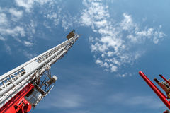 Сползать пожарную лестницу стоковое изображение rf