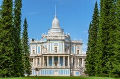 Сползая павильон холма одно из ранних творчеств архитектора Антонио Rinaldi Oranienbaum, район Санкт-Петербурга Стоковое Фото