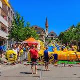 Сползите мое действие дня радио Zurisee в Wallisellen, Швейцарии Стоковые Фото