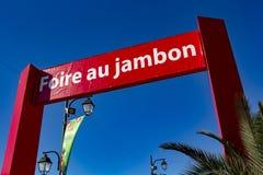 Справедливая ветчина Байонна Франция Стоковое фото RF