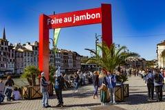 Справедливая ветчина Байонна Франция Стоковые Фото
