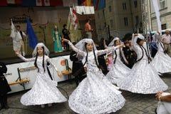 справедливый фольклор prague празднества Стоковые Фото
