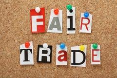 Справедливая торговля стоковое изображение rf