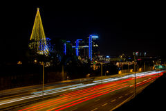 Справедливое земное украшение рождества на ноче Стоковое Фото