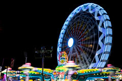 Справедливое колесо ferris на ноче Стоковое фото RF