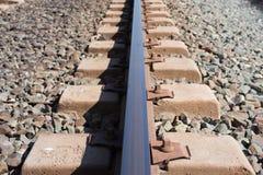 Справочная информация Железнодорожное белье Рельсы и слиперы Стоковое фото RF