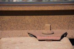 Справочная информация Железнодорожное белье Рельсы и слиперы Стоковые Изображения RF