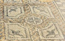 Справьтесь мозаика в доме в римских руинах, старом римском городе Orpfeus Volubilis Марокко стоковая фотография rf