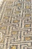 Справьтесь мозаика в доме в римских руинах, старом римском городе Volubilis Марокко Стоковые Фото