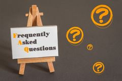 спрашиваемые часто вопросы стоковые фотографии rf