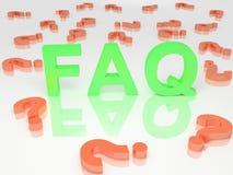 спрашиваемые часто вопросы Стоковые Изображения RF