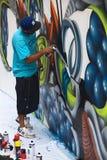 Спрейер на фестивале латиноамериканца Latir в Лиме, Перу Стоковые Изображения RF