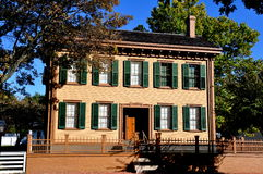 Спрингфилд, Иллинойс: Дом Авраама Линкольна Стоковая Фотография RF