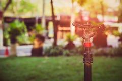 Спринклер воды в саде, Стоковые Изображения RF