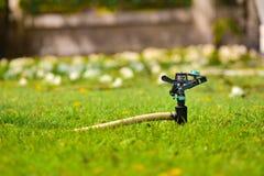 Спринклер на траве Стоковое Фото