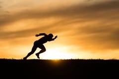спринтер силуэта Стоковое Изображение RF