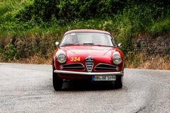 Спринт 1900 ROMEO c АЛЬФЫ супер путешествуя 1955 Стоковые Изображения