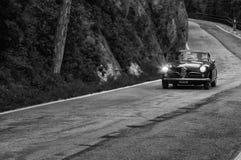 Спринт 1900 ROMEO c АЛЬФЫ супер путешествуя 1955 Стоковая Фотография